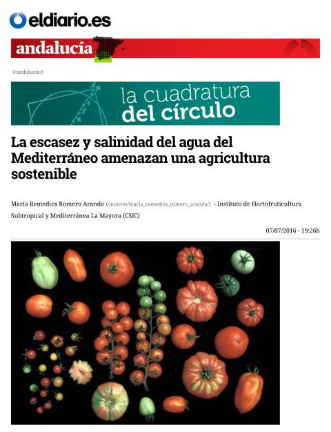 La escasez y salinidad del agua del Mediterráneo amenazan una agricultura sostenible-1