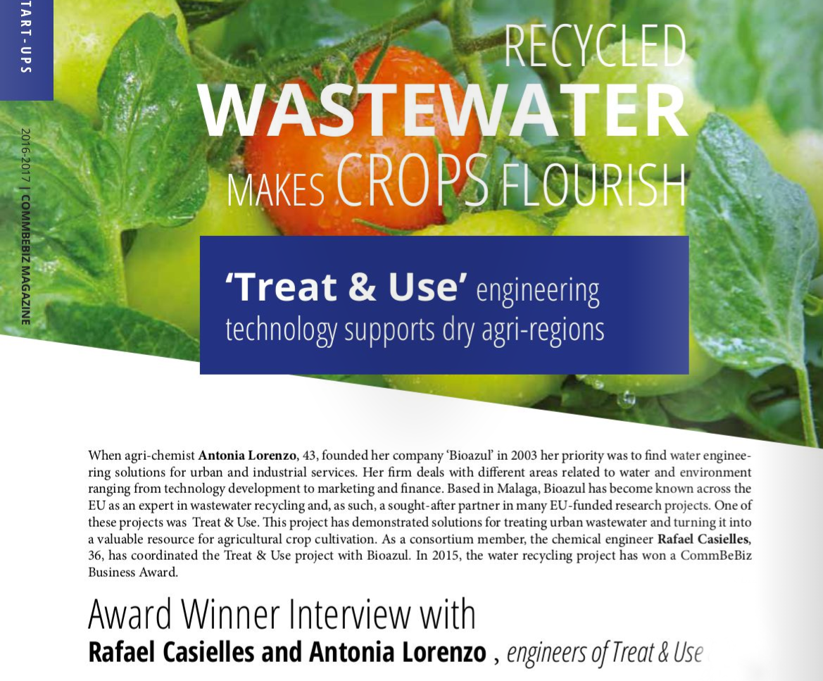 how recycled wastewater makes crops flourish