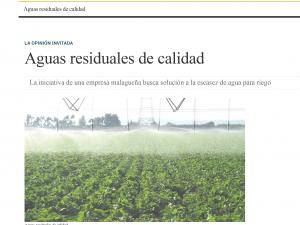 """Artículo en Diario Sevilla sobre """"Aguas residuales de calidad"""""""