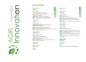 agri innovation summit programme