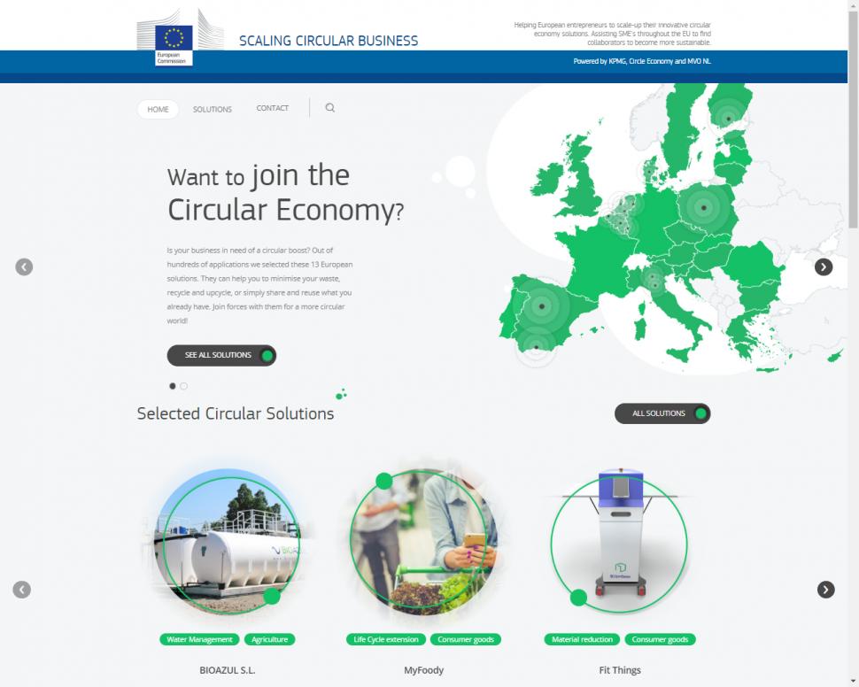scaling circular business / plataforma para respaldar empresas circulares
